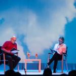 """czytanie """"Piaskownicy"""", Halina Skoczyńska, Adam Ferency; fot. Renata Dąbrowska; PC Drama"""