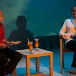 """czytanie """"Piaskownicy""""; Halina Skoczyńska, Adam Ferency; fot. Renata Dąbrowska; PC Drama"""