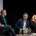 dyskusja; Adam Ferency, Jacek Kopciński, Zbigniew Majchrowski, Joanna Puzyna-Chojka; fot. Renata Dąbrowska; PC Drama