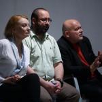 dyskusja - pytania z sali; Halina Skoczyńska, Igor Gorzkowski, Adam Ferency; fot. Paweł Wyszomirski; PC Drama
