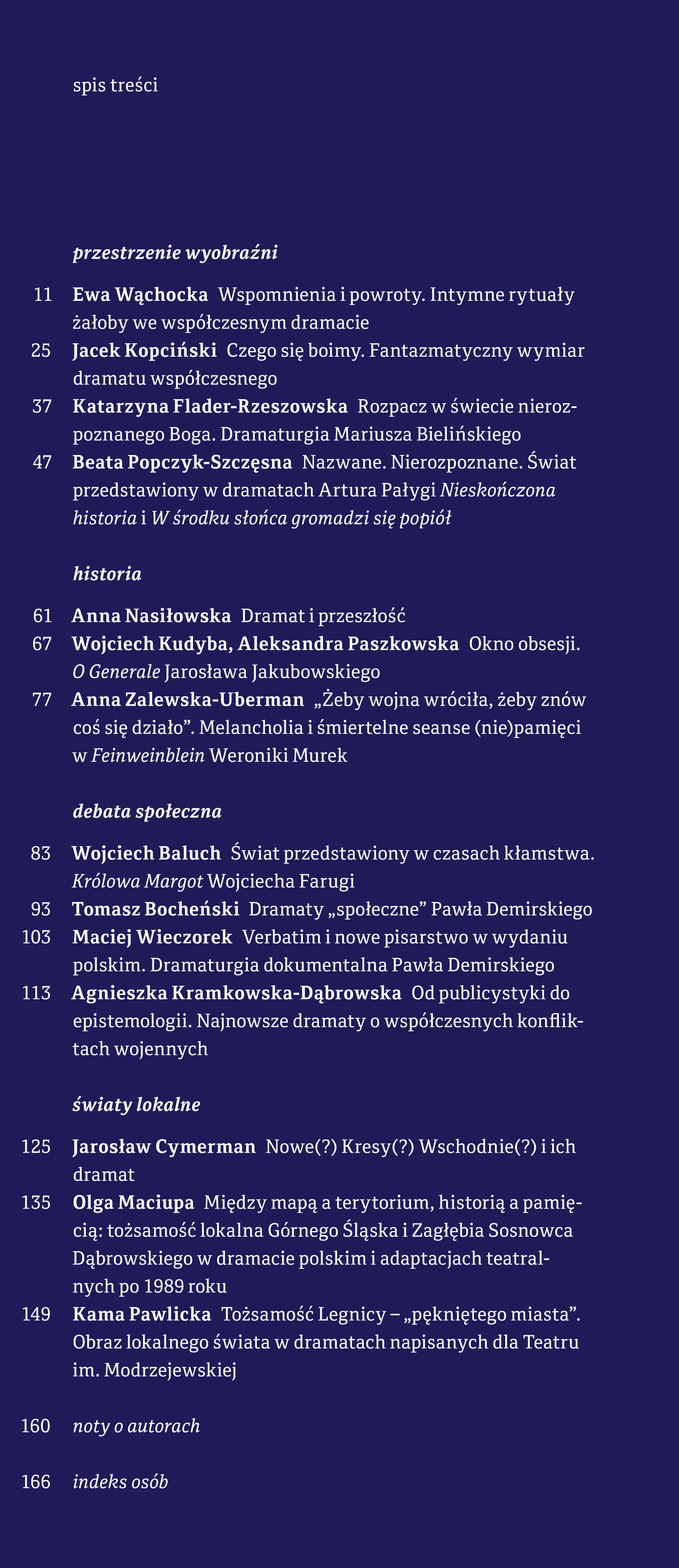 Świat (w) polskiej dramaturgii najnowszej